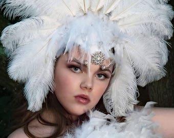 Feathered Burlesque Headpiece