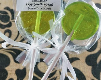12 Mint Bourbon Lollipops - Mint Julep