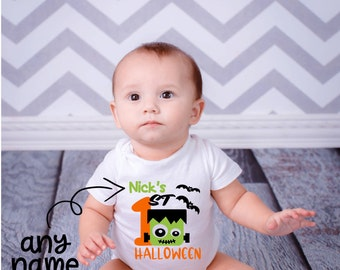 1st Halloween Boy Outfit, Halloween Baby Outfit, My 1st Halloween, Baby Boy Halloween Outfit, Halloween Bodysuit, 1st Halloween Costume