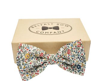 Handmade Liberty Bow Tie in Ditsy Print Katie & Millie - Adult and Junior sizes available