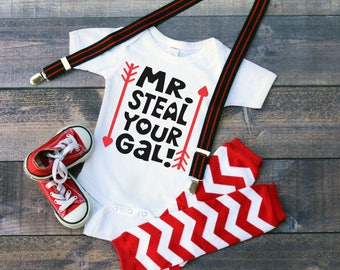 Mr. Steal Your Gal Valentines Bodysuit or T-Shirt for Baby Toddler Kid Newborn Babies Shower Coming Home Gift Idea Day Creeper Present Cute