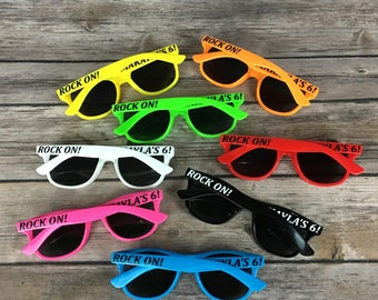KIDS Personalized Sunglasses, Custom Wedding Favor Sunglasses, Children's Birthday Party Favor, Cheerleading team, Sports team sunglasses