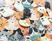 Cat Flake Stickers - Traditional Japanese Paper