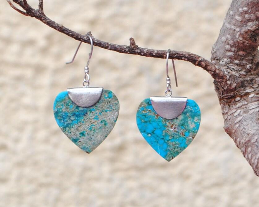 Bijoux American Vintage : Native american earrings turquoise vintage