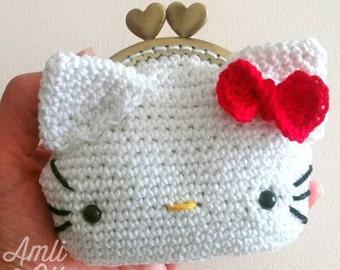 Hello Kitty Monedero - Patrón Ganchillo