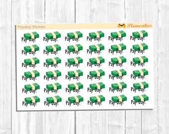 Payday Stickers, Planner Stickers Payday Money, Money Stickers, Payday Planner Stickers, Money Planner Stickers, Planning Accessories