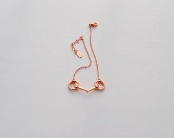 925 Sterling Silver Petite Snaffle Bit Bracelet
