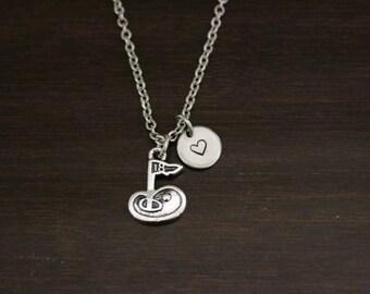 Golf Flag Necklace - Golfer Necklace - Golf Necklace - Sports Necklace - Athlete Necklace - Athlete Gift - Golfer Gift - Golf Jewelry -I/B/H
