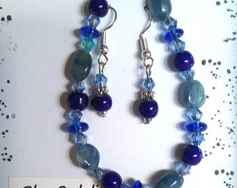 Sale!!!!  Blue sodalite bracelet and earrings