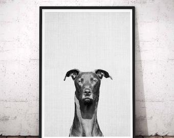 Dog Portrait, Pet Portrait, Memorial Pet Art, Home Wall Decor, Baby animal wall art, Memorial Pet Art, Modern Pet Decor, Dog Wall Art Print