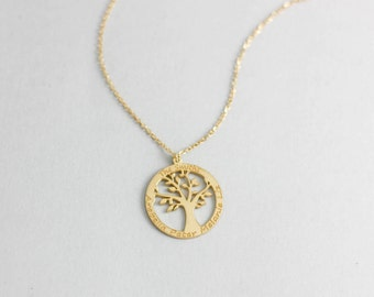 Tree of Life Necklace, Personalized Tree Necklace, Family Tree Necklace, Family Necklace, Family Tree of Life, Personalized Family, SN0025