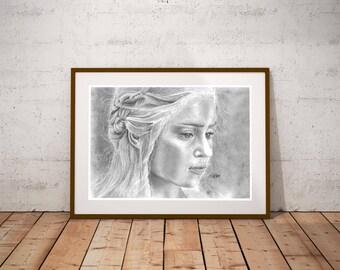 Daenerys Targaryen - Game of Thrones Drawing