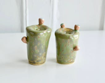 Cactus Salt/Pepper Shakers - Green