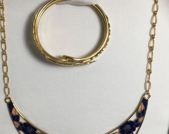 Vintage necklace and bracelet CB71