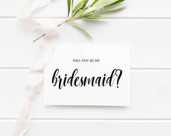 Will You Be My Bridesmaid Invitation Printable