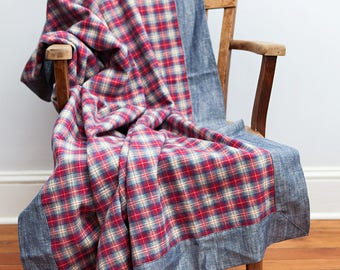Red Plaid Blanket, Red Blue, Plaid Blanket, Flannel Blanket, Throw Blanket, Farmhouse Decor, Country Home Decor, Red Throw Blanket