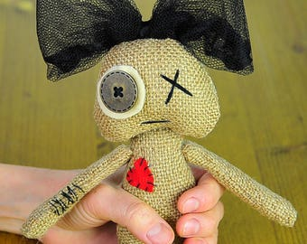 Gothic doll Primitive Doll   Art Doll   gift Hand made doll Handmade gifts For her Pretty doll Toys Ooak Creature Artwork voodoo doll Booo