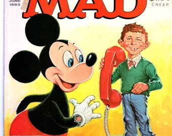 MAD Magazine #239 June 1983 Alfred E Neuman Mickey Mouse Cover