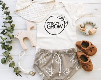 Watch Me Grow, Gender Neutral Coming Home Outfit, Baby Clothes, Cute Baby  Outfits