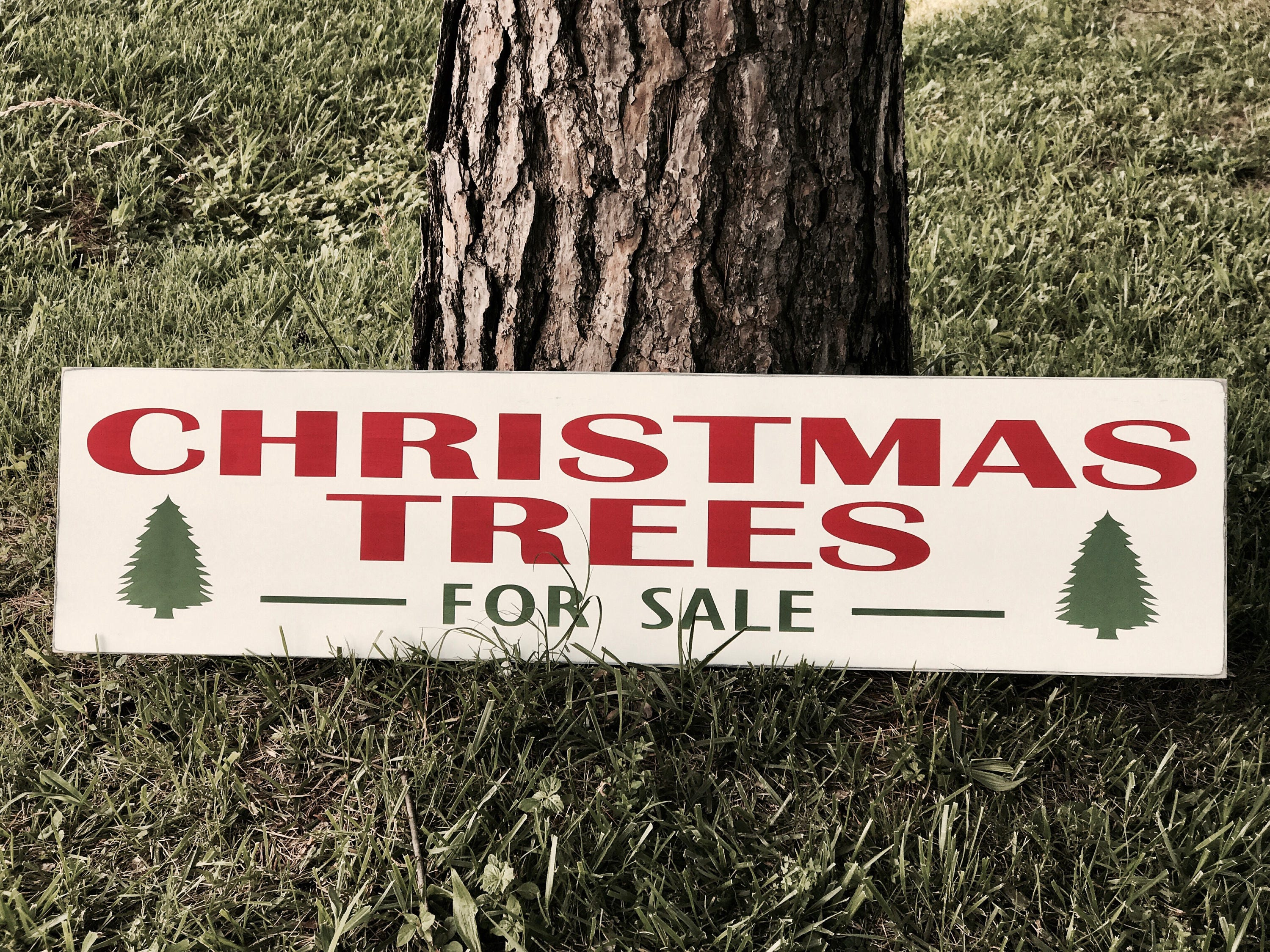 Christmas Trees For Sale Wood Sign / Distressed Christmas Sign