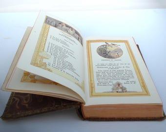 The parables religious latin french Catholic Vintage 1937 Missal