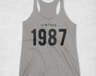 31st Birthday Gift For Her - Vintage 1987 Tank Top for Women - Womens 31st birthday Gifts - 1987 Shirt - 31st Gifts For Women - Workout tank