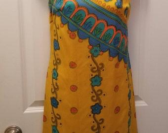 SALE - Vintage 60's Kenzar Silk Sheath - Fabulous Pattern - 38-36-40!