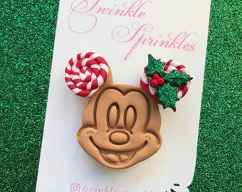 Mickey candy waffle brooch / necklace