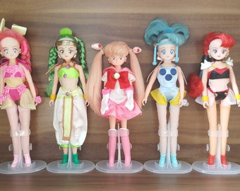Sailor Moon Amazoness Quartet + Chibi Moon Line Up Figure Doll / VesVes JunJun PallaPalla CereCere Very Rare Set