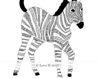 Zoe Zebra Print