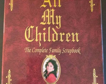 All My Children Book , 1994 , Gary Warner , Complete Family Scrapbook , 25th Anniversary Collectors Edition, Soap Opera