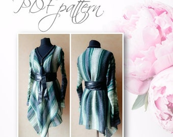New PDF file pattern, Insatant download, owesome for beginers, machine knitting pattern