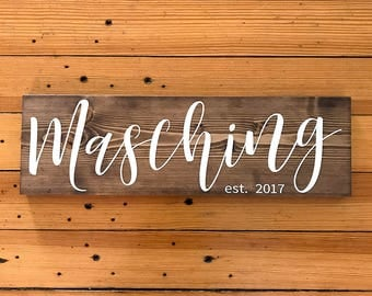 Wedding Gift, Bridal Shower Gift, Last Name Sign, Rustic Wedding Decor, Anniversary Gift, Gift for Bride, Personalized Gift, Wedding Signage