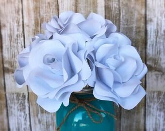 Paper Rose Centerpiece - Paper Rose Bouquet - Paper Flower Arrangement - Paper Rose Wedding Bouquet - Anniversary Flowers - Birthday Flowers