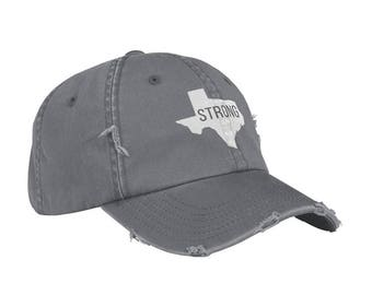 TEXAS STRONG Embroidered Baseball Caps for All Ages, Toddler and Childrens Caps, Dad Hat, Unstructured Hat, Houston Strong, #texasstrong