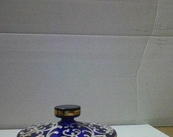 Cobalt Blue Powder box /candy dish