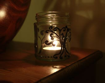 willow tree mason jar & candle holder