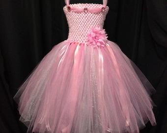 Pink princess dress, light pink tutu dress for girls, tutu dress for girls, birthday dress, gift for girls, dress up, princess dress