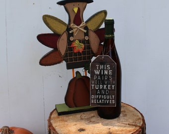 Wine Tag - Wine pairs with turkey and difficult relatives