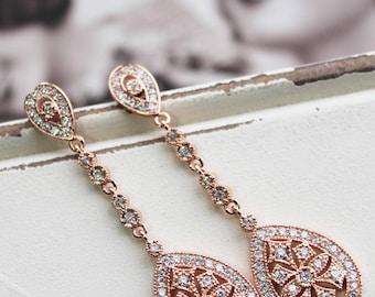 Art Deco Earrings , Vintage Style Crystal Earrings, Great Gatsby  Earrings,  Wedding Earrings,  Crystal Drop Earrings, Stud Earrings