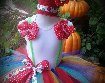 Clown tutu, clown tutu set, clown costume, circus tutu, circus costumes, clown set, circus birthday, circus costumes, circus clown tutus