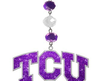 TEXAS CHRISTIAN University Magnetic ornament,Tcu ornament ,Tcu Horned Frogs ornament,Tcu Ornament,Tcu football,Tcu Gift,accessories