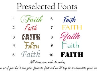 Faith Vinyl Sticker Decal - Choose Color, Size and Font