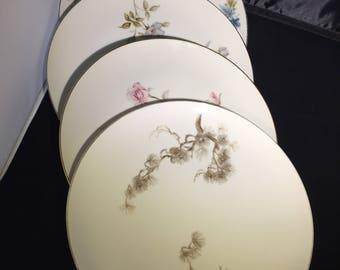 Mismatched China Dinner Plates 4 set  Large Plates