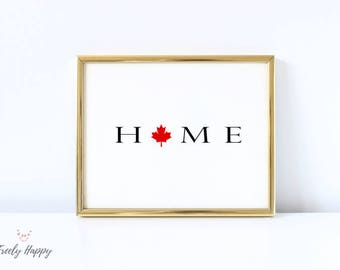 Canada Home printable 8X10  Celebrate your love for Canada