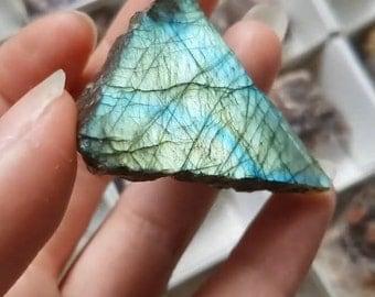 Self standing Labrodorite Triangle
