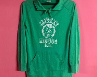 Vintage Mickey Mouse Disney Spell Out Big Logo Sweatshirt Womens-Size M
