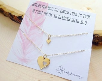 Piece of my heart matching Necklaces, mother daughter set, big and little gift, mother daughter jewelry, mother and child jewelry, Otis B