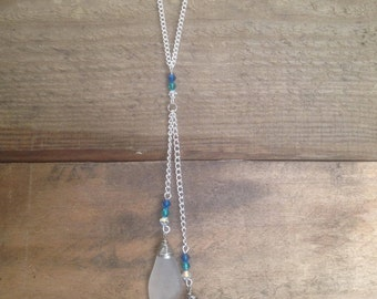 Shades of Blue Beach Glass Necklace