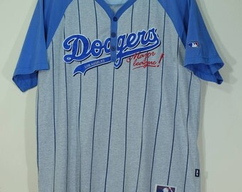Men's MLB Los Angeles Dodgers Majestic Gray Road Cool Base Player Jersey